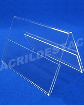 Display de PS Cristal acrilico similar 10 x 30 dupla face